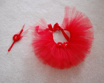 Little Princess in Red Tutu Set for preemie or newborn