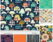 Twin Size Rag Quilt- Mushroom quilt, Flower quilt, Orange quilt, Blue quilt, rag quilt , modern quilt, rag quilt. Made to order quilt