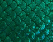Spandex Big Mermaid Fish Scale Green 58 Inches Wide Fabric By The Yard