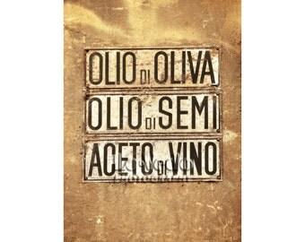 Oil Vinegar Photo, Tuscany, Italy, Fun Kitchen Art, Olive Oil, Balsamic Vinegar, Food Photography