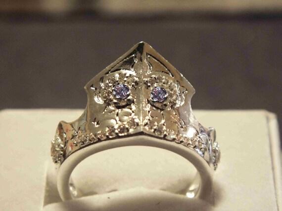 Tiara de prata da princesa da Disney A Bela Adormecida Aurora Crown Maleficent