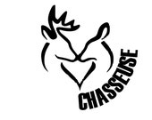Chasseuse Vinyl Sticker +/- 5'' x 5'' (Free shipping Canada & US)