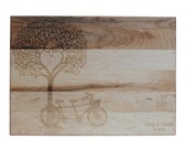 Personalized Cutting Board Wedding Gift Cutting Board 10x14 Maple Custom Laser Engraved