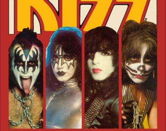 "KISS ""Best Of KISS"" Cover Reproduction Stand-Up Display - Collectibles Collection Collector Memorabilia Gift Rock Music Retro Frame"