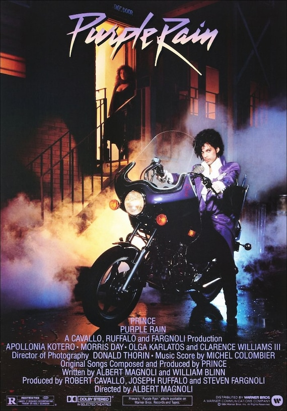 """Prince """"Purple Rain"""" Movie Counter Top Stand-Up Display - Gift Collectibles Collector Collection Poster Retro Vintage Musician kiss76"""