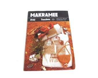 Vintage makrame tutorial for bags, 1970s Germany