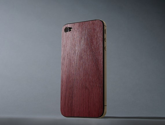 Purpleheart iPhone 4/4s Real Wood Skin - Made in the USA - FREE Shipping