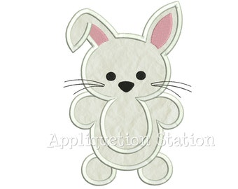 Woodland Bunny Rabbit Applique Machine Embroidery Design Pattern Boy baby animal Easter INSTANT DOWNLOAD