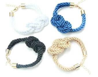 Silk Knot Bracelet - 24k gold plated - bridesmaid set