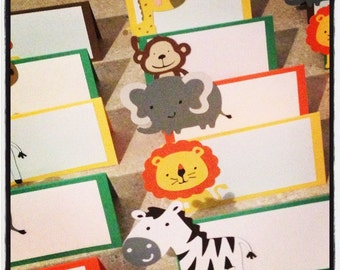 Safari/Jungle place cards. Set of 10
