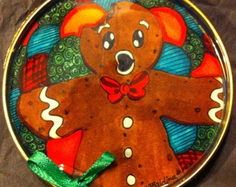 Whimsical Gingerbread Man Christmas Ornament
