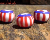 Bead Pattern 34: Norse red, white, & blue bead (reproduction)