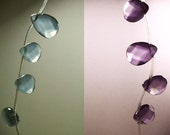 Alexandrite Rare Color Changing Lavender to Topaz Chalcedony Quartz Faceted Briolette Beads 15mm - 16mm