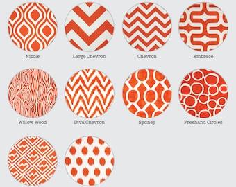 Orange Pillow Covers - Tangelo Orange White - Moroccan, Chevron, Stripe, Ikat, Geometric, Floral