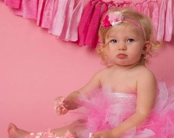 Baby tutu set, Baby photo prop, baby tutu, photo prop, birthday tutu,  pink tutu birthday tutu, first birthday tutu, cake smash tutu, tutu