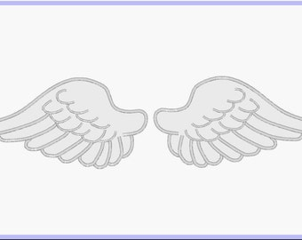Angel Wings Digitized Applique Design For Embroidery Machines- Instant Download