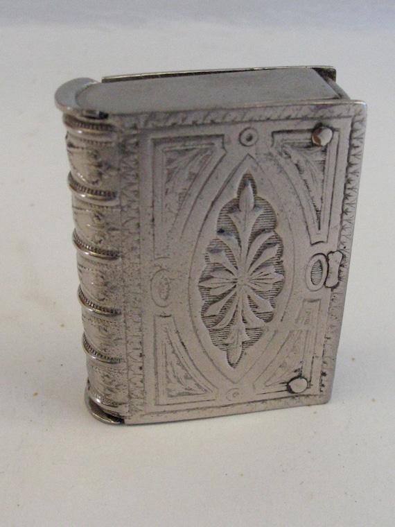 Antique 1890s Nickel Plated Vesta Case - Victorian