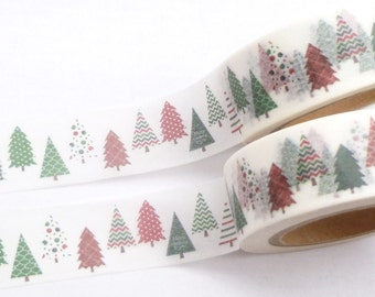 Green and Red Christmas Tree Washi Tape - 756