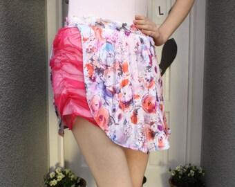 A 'Janet' Pink Flower Skirt