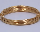 German Made Wire 18ga Round Gold Plated 4 Meter Coil