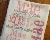 DOUBLE SIDED-Personalized baby blanket-Fast Turnarounds-Receiving Blanket, Birth Announcement, Monogrammed, DOUBLE sided, Printed