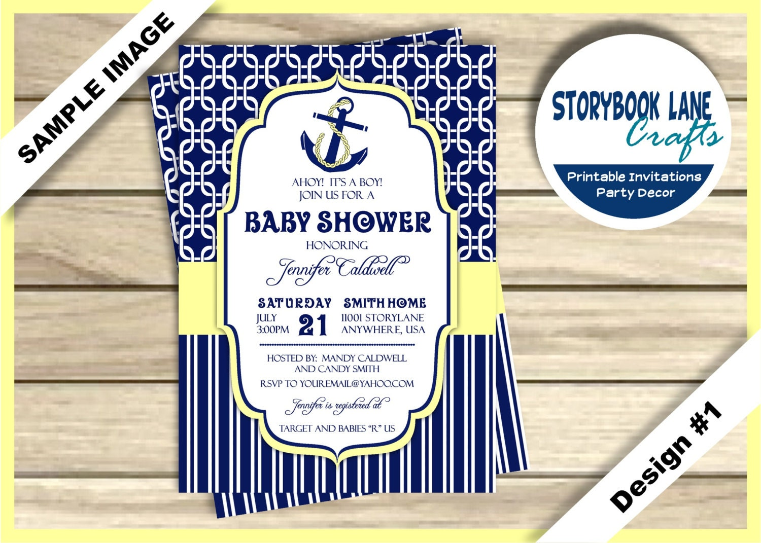 nautical baby shower invitation anchor baby shower