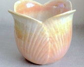 AMAZING etheral iridescent glaze tulip vase, a must see in person!!!