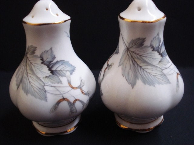 Classy Salt And Pepper Shakers By Royal Albert Fine By