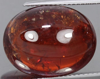 19.50 Ct. 100% Natural Unheated Natural Spessartite Garnet Cabochon Orange Gemstone