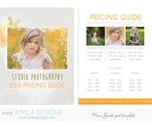 Price Guide PSD Template 8.5x11in for Photographers