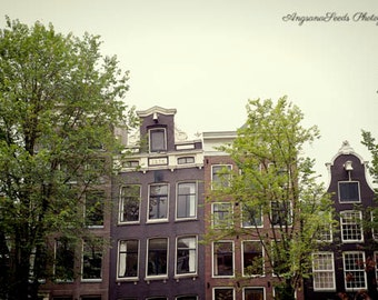 Amsterdam houses photos Amsterdam architecture photos Amsterdam Cityscape traditional houses Holland amsterdam canal dutch wall art 8x12 art