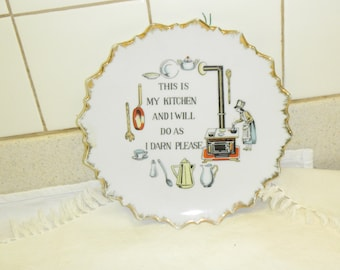My kitchen wall hanging plate