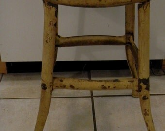 Old metal stool  chippy
