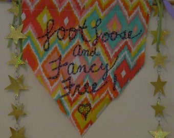 Foot Loose and fancy free banner