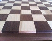 Reserved listing for Nancy Huff:  custom walnut and maple chess board