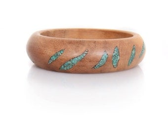 Wood Bracelet with Eilat Stone -- Eilat Style