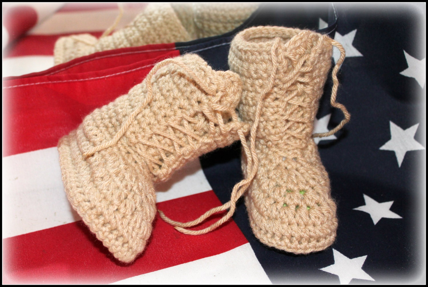 Crochet army boots combat boots military boots by TheJellyBoutique