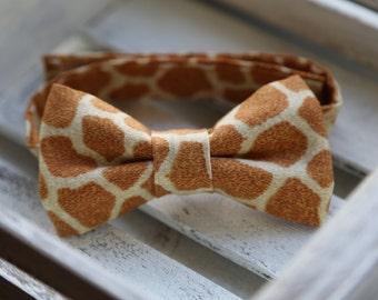 Giraffe Bow Tie (Light Brown,and Tan )