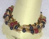 Carnelian Coil Bracelet