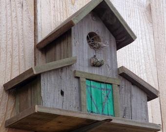 Rustic Reclaimed Barnwood Birdhouse (Mini-Barn)