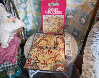1966 Snakes and Ladders Board Game / By Galt Toys :)S/ Not included in Coupon Sale