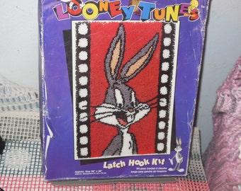 Bugs Bunny Kit, Craft Kit, Latch and Hook Kit Bugs Bunny, Crafts, Yarn Craft,  :)