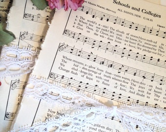 Music Pages Hymnal Scrap Pack / 40 Hymnal Music Pages / Vintage Music Sheets Ephemera for Collage, Altered Art