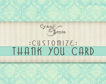 Customize - Add a Matching Thank You Card