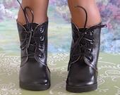 Bottes de l'armée en simili cuir noir pour garçon American Girl