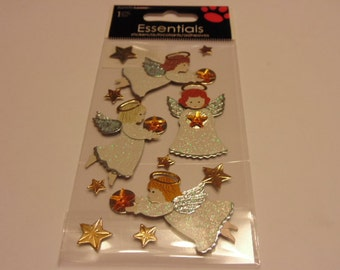 4 angels and stars, embellishments, 10-50 mm