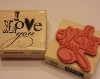 I Love you, rubber stamp, 50 mm