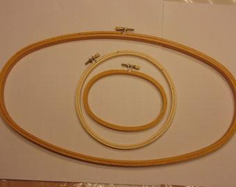 set of 3 needle point rings / frames (HR14)
