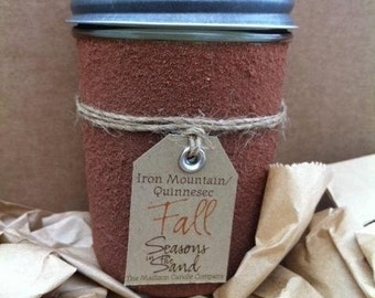 Iron Mountain Michigan Quinnesec Upper Peninsula Fall Soy Candle Seasons in the Sand