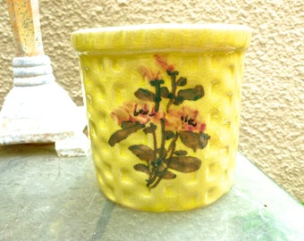Ceramic Wall Pocket, Celery Green Glazed Herb Planter, Vintage Pottery, Wall Vase, Cottage Kitchen